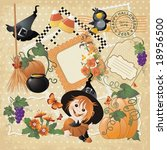 set of halloween characters and ... | Shutterstock .eps vector #18956500
