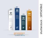 modern business options charts... | Shutterstock .eps vector #189565862