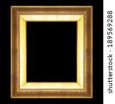 golden  frame isolated on black ... | Shutterstock . vector #189569288