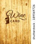 retro label for wine list menu...   Shutterstock .eps vector #189569726