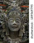 ancient statue in tanah lot ... | Shutterstock . vector #189569795
