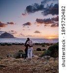 Small photo of San Vito Lo Capo Sicily, San Vito lo Capo beach and Monte Monaco in background, north-western Sicily. cliffs and rocky coastline in Sicily
