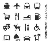 icons for locations and... | Shutterstock .eps vector #189573026
