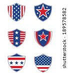 unique vector american shield... | Shutterstock .eps vector #189578582