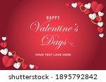 lovely happy valentine's day... | Shutterstock .eps vector #1895792842