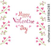 inscription happy valentine's...   Shutterstock . vector #1895806285