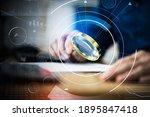 business auditor using... | Shutterstock . vector #1895847418