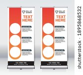 roll up banner design template  ... | Shutterstock .eps vector #1895868532