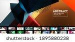 geometric minimal abstract... | Shutterstock .eps vector #1895880238