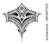 polynesian style ornament  good ... | Shutterstock . vector #1895897335