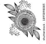 vector bouquet of boletus ... | Shutterstock .eps vector #1895898085