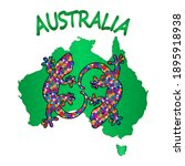 Map Of Australia With Two...