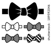 bow tie icons set | Shutterstock .eps vector #189592046