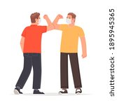 elbow greetings during the... | Shutterstock .eps vector #1895945365