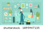 cleaning service. steam... | Shutterstock .eps vector #1895947135