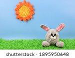 Crochet Gray Easter Bunny...
