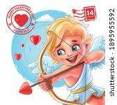 graphic banner for valentine... | Shutterstock .eps vector #1895955592