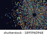 dna test infographic. genome... | Shutterstock . vector #1895960968