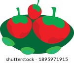 cute and interesting fruits on...   Shutterstock .eps vector #1895971915