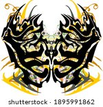 scary colorful butterfly wings... | Shutterstock .eps vector #1895991862