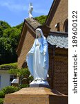 statue of virgin mary  | Shutterstock . vector #189600122