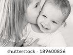 happy little girl hugging...   Shutterstock . vector #189600836