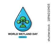 wet land illustration. easy to... | Shutterstock .eps vector #1896010405