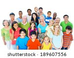 large group of people | Shutterstock . vector #189607556