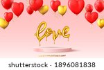 happy valentine's day holiday...   Shutterstock .eps vector #1896081838