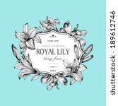 vintage elegant floral card... | Shutterstock .eps vector #189612746