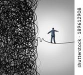 crisis management business... | Shutterstock . vector #189612908