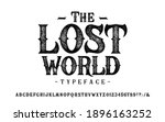 font the lost world. craft... | Shutterstock .eps vector #1896163252