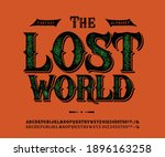 font the lost world. craft... | Shutterstock .eps vector #1896163258