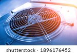 Small photo of Metal industrial air conditioning vent. HVAC. Ventilation fan background
