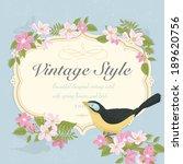 spring vintage vector... | Shutterstock .eps vector #189620756