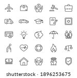 insurance outline vector icons...