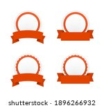 round paper banner badge with... | Shutterstock .eps vector #1896266932