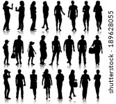 black silhouettes of beautiful... | Shutterstock .eps vector #189628055