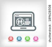 web parental advisory | Shutterstock .eps vector #189628508