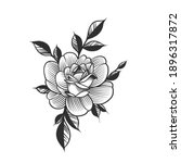 a flower  floral tattoo. can be ... | Shutterstock .eps vector #1896317872