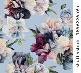 seamless floral pattern with... | Shutterstock . vector #1896336595