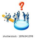 isometric 3d business... | Shutterstock .eps vector #1896341398