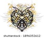 colorful splattered predator... | Shutterstock .eps vector #1896352612