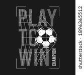 football or soccer t shirt... | Shutterstock .eps vector #1896365512