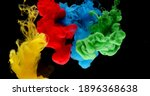 Colourful Inkclouds In Water In ...