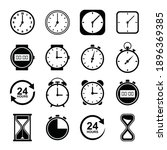 time and clock icons. clocks...