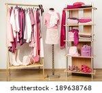dressing closet with pink... | Shutterstock . vector #189638768