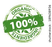 organic ingredients 100 percent ... | Shutterstock .eps vector #189638936