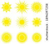 sun icons vector symbol set | Shutterstock .eps vector #1896397258