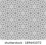 geometric ornamental pattern.... | Shutterstock .eps vector #189641072